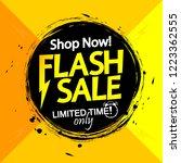 flash sale banner design... | Shutterstock .eps vector #1223362555