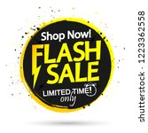 flash sale banner design... | Shutterstock .eps vector #1223362558