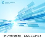 abstract perspective futuristic ... | Shutterstock .eps vector #1223363485