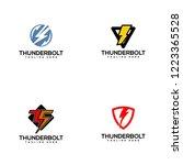 thunderbolt logo design | Shutterstock .eps vector #1223365528