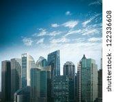 modern financial buildings... | Shutterstock . vector #122336608