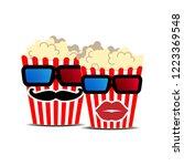 two funny cute cartoon popcron... | Shutterstock .eps vector #1223369548