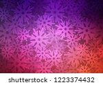 dark purple vector layout with... | Shutterstock .eps vector #1223374432