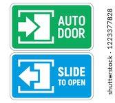 automatic sliding door. signs... | Shutterstock .eps vector #1223377828
