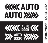 automatic sliding doors.... | Shutterstock .eps vector #1223379865