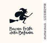 hand written italian lettering... | Shutterstock .eps vector #1223382958