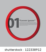 circle tag design for... | Shutterstock .eps vector #122338912