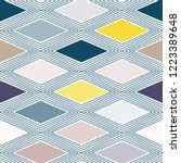 diamond rhombus tiles seamless ... | Shutterstock .eps vector #1223389648