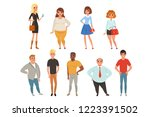 cartoon collection of young and ... | Shutterstock .eps vector #1223391502