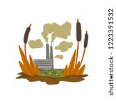 nature pollution factory  toxic ... | Shutterstock .eps vector #1223391532