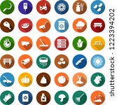 color back flat icon set  ... | Shutterstock .eps vector #1223394202
