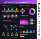 infographic design elements... | Shutterstock .eps vector #1223401288
