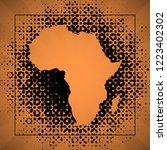 sketch blot dotty african...   Shutterstock . vector #1223402302