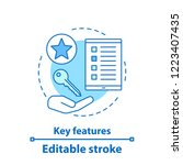key features concept icon.... | Shutterstock .eps vector #1223407435