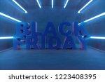 3d illustration black friday ... | Shutterstock . vector #1223408395