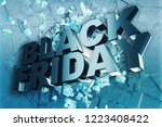 black friday  sale message for... | Shutterstock . vector #1223408422
