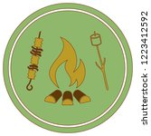 grilled zephyr and  kebab icon. ... | Shutterstock .eps vector #1223412592