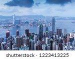 hongkong city skyline  vitoria...   Shutterstock . vector #1223413225