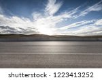 mountain road and beautiful... | Shutterstock . vector #1223413252