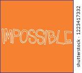 lettering meme. for postcard... | Shutterstock .eps vector #1223417332