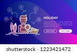 man on holidays concept with...   Shutterstock .eps vector #1223421472