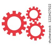 gears work on white background | Shutterstock .eps vector #1223427022