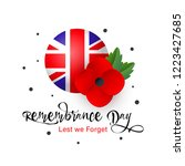 remembrance day vector card.... | Shutterstock .eps vector #1223427685