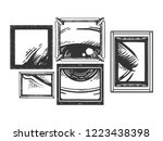 eye in painting frames... | Shutterstock .eps vector #1223438398