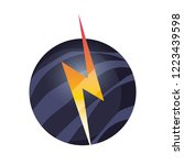 thunderbolt and planet space | Shutterstock .eps vector #1223439598