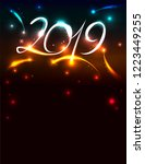 poster for new 2019 with...   Shutterstock .eps vector #1223449255