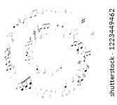 music notes  treble clef  flat... | Shutterstock .eps vector #1223449462