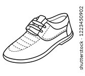 men's casual soft shoes. vector ... | Shutterstock .eps vector #1223450902