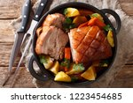 bavarian beer roasted pork ... | Shutterstock . vector #1223454685
