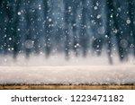 winter christmas background...   Shutterstock . vector #1223471182
