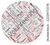 vector conceptual volunteering  ... | Shutterstock .eps vector #1223471578
