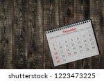december 25 in the calendar on...   Shutterstock . vector #1223473225