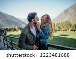 funny man and woman having fun... | Shutterstock . vector #1223481688