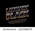 vector luxury black alphabet... | Shutterstock .eps vector #1223488195