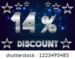 14  off discount promotion sale ... | Shutterstock .eps vector #1223495485