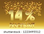 14  off discount promotion sale ... | Shutterstock .eps vector #1223495512