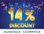 14  off discount promotion sale ... | Shutterstock .eps vector #1223495518