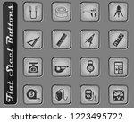 measuring tools vector web... | Shutterstock .eps vector #1223495722