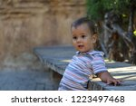 outdoor portrait of little boy | Shutterstock . vector #1223497468
