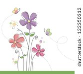 spring flower background with... | Shutterstock .eps vector #122350312