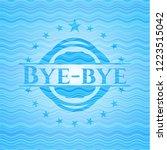 bye bye sky blue water wave... | Shutterstock .eps vector #1223515042