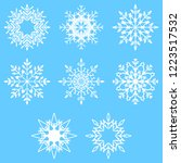 collection of artistic icy... | Shutterstock . vector #1223517532