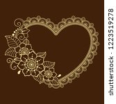 pattern in form of heart for...   Shutterstock .eps vector #1223519278