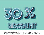 30  off discount promotion sale ... | Shutterstock .eps vector #1223527612