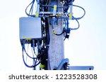 micro cellular 3g  4g  5g. base ... | Shutterstock . vector #1223528308