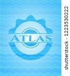 atlas water concept emblem...   Shutterstock .eps vector #1223530222